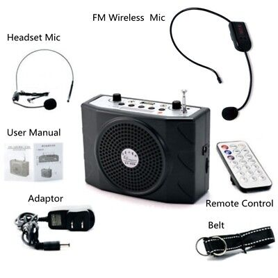 5W Portable Voice Booster Amplifier Loudspeaker Wireless Mic for Lecture Couc