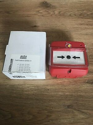 FIRE ALARM MANUAL CALL POINT SURFACE MOUNT ZETA ZT-CP2 With Perspex Cover