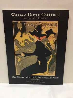 William Doyle Galleries Auction Catalogue Old Master Modern Prints Posters 1998