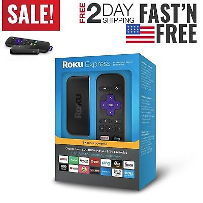 Streaming Player Roku Express HDTV 1080p NEWEST VERSION Digital Wireless 2017