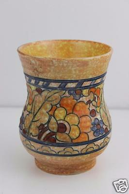 Charlotte Rhead Crown Ducal Hand Made Tubelined Vase SIGNED  13x10cm