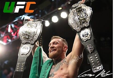 Conor McGregor UFC 'Two Belts' A3 Poster Free Postage