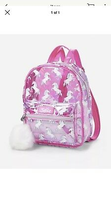 Justice transparent Unicorn Mini 🎒 backpack 💞💞💞💞