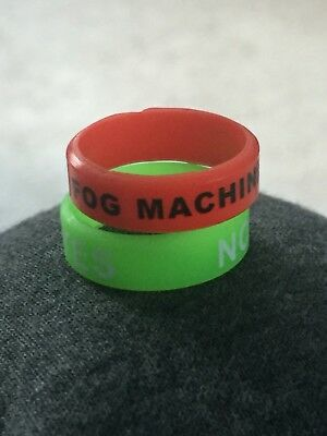 1 Green And 1 Red 22mm X 7mm Vape Bands