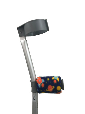 Crutch Handle Padded Covers HIGH QUALITY Cushioned Foam Pad - Space