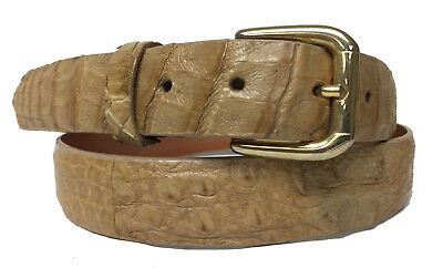 Mens Green Crocodile Tail Leather Western Belt Round Buckle 52 Cowboy Professional