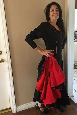 5c4a89b10 Ballroom Flamenco Tango Salsa Paso Latin Dance Dress Costume Spanish Gown  XS-M