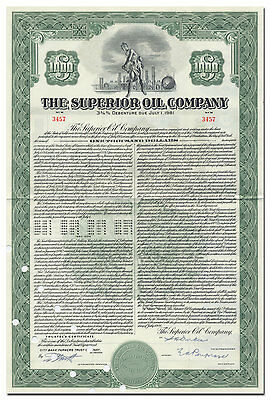 Superior Oil Company Bond Certificate