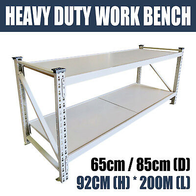 Workbench 800kg Workshop Heavy Duty Steel Metal Work Bench Warehouse Stand Table