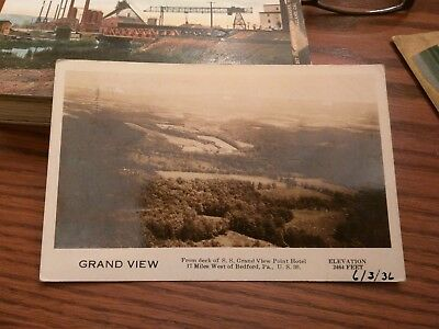 S. S. Grandview Point Hotel Near West Bedford PA US 30 Photo Post Card