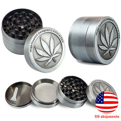 Tobacco Herb Grinder Spice 4 Piece Metal Chromium Herbal Alloy Smoke Crusher