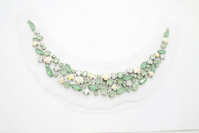 Pearl Beaded Lace Women Necklace Choker Collar Faux Peter Pan for Clothing Wear