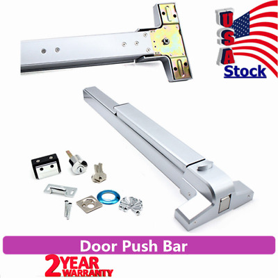 Door Push Bar Safety Exit Lock Emergency Panic Exit Device Lock Status US