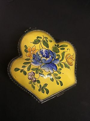 Antique French Hand painted porcelain box