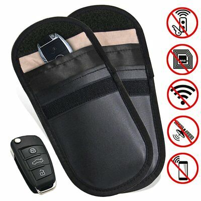 Lock Car Key Signal Blocker Keyless Entry Anti-Theft Fob Pouch Faraday Bags