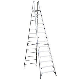 Werner 14' Type 1AA Aluminum Platform Ladder, Lot of 1