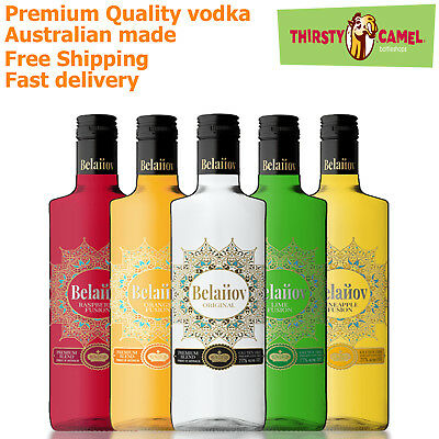 Belanov Fusion Vodka 700ml - Made in Australia - Multilabel Flavours