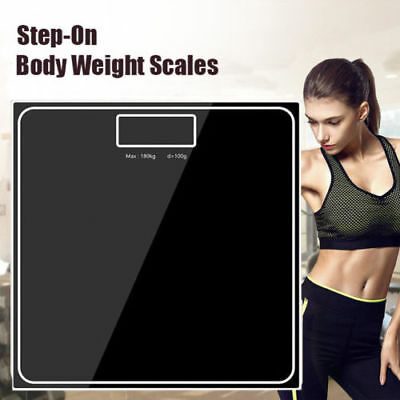 Electronic Digital Glass Body Bathroom Scale 180kg/400lb Gym Weighing Scales