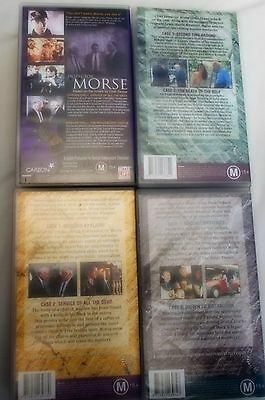 INSPECTOR MORSE - STARRING JOHN THAW - 7 DOUBLE VCR'S with 14 EPISODES