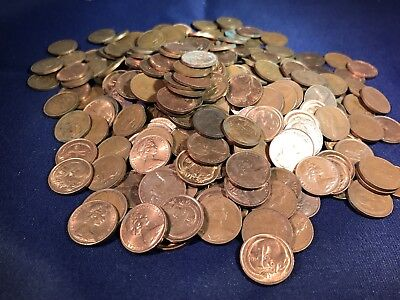 Australian 1 And 2 Cent 450 Grams From Hoard. Bulk. Includes 1968.