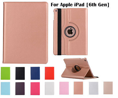 360°Rotate PU Leather cover case for Apple iPad [6th Gen] 9.7""