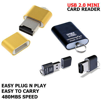 USB Mini Card Reader USB 2.0 SD TF M2 T Flash SDHC Adapter For Laptop PC