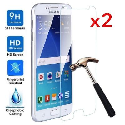 2x 9H Tempered Glass Screen Protector Film For Samsung Galaxy J3 J5 J7 J4 J6 J8