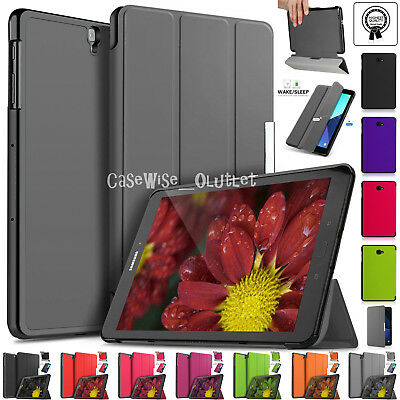 "Flip Stand Leather Magnetic Smart Case Cover Samsung Galaxy Tab S3 9.7"" SM-T820"