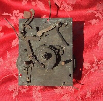 Antique Grandfather Longcase Movement 8 Day Good Honest Movement Spares Repair
