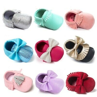 Multi Styles Toddler Baby Boy Girl Moccasin Leather Soft Sole Crib Shoes Sneaker