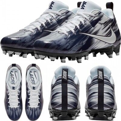 37d188dce45 NIKE VAPOR VARSITY LOW LAX MEN S LACROSSE CLEATS COMFY SHOES White College  Navy