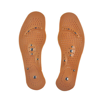 1Pair Magnetic Therapy Magnet Comfort Pads Health Care Foot Massager Insoles NEW