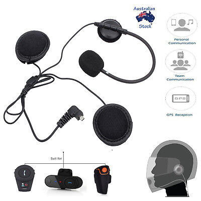 Headset Headphone Microphone For Bluetooth Motorcycle Helmet Intercom Accessorie