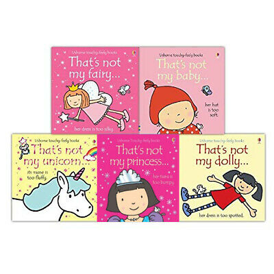 Thats Not My Girls Collection Touchy-Feely 6 Books Set Unicorn, Mermaid, Fairy