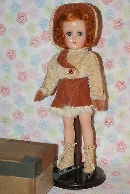 """BEAUTIFUL! All Original Vintage 14"""" Nancy Lee Composition Skater Doll In Box"""