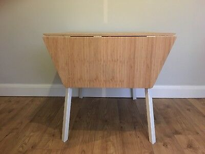 1950s Style Bamboo Drop Leaf Table Ikea Ps 2017 White Seats 2