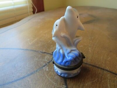 Dolphin Hinged Trinket Box