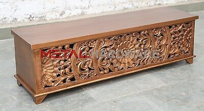 Hand Carved Indian Antique Style Table Side unit mango wood +various Finishes