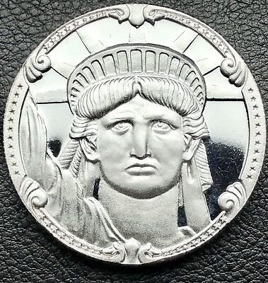 1886-1986 Statue of Liberty Rarities Mint 1 oz .999 Silver Round Coin (1054-8)