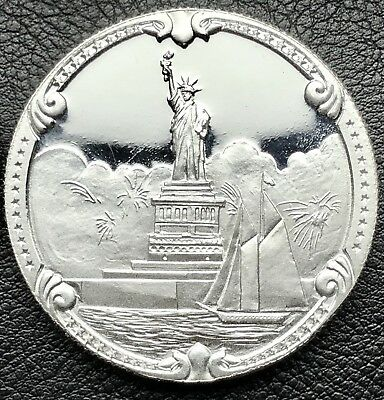 1886-1986 Statue of Liberty Rarities Mint 1 oz .999 Silver Round Coin (1054-6)