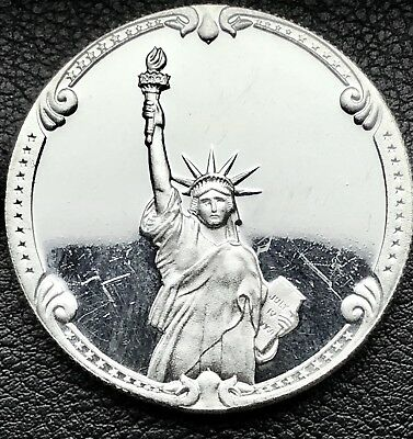 1886-1986 Statue of Liberty Rarities Mint 1 oz .999 Silver Round Coin (1054-1)