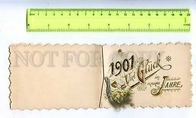 206991 Congratulations 1901 NEW YEAR Vintage Greeting Card