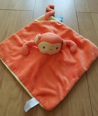 The Gro Company Mikey Monkey Orange Comforter Blanket Blankie Soother DouDou
