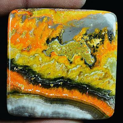 142ct Natural High Grade Bumble Bee Jasper Radiant Cabochon from Indonesia MV83
