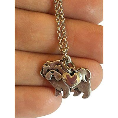 Shih Pendants Tzu Charm Necklace, Shihtzu Pet Dog Lover Gift, Stainless Steel On