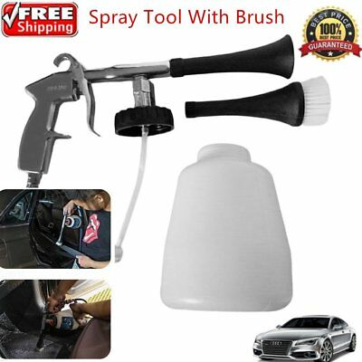 White Tornador Car Surface Cleaning Washing Air Pulse Spray Tool With Brush F