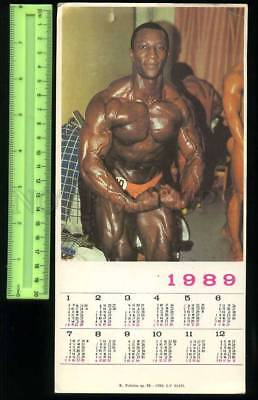 231134 USSR LATVIA black man body-building old calendar