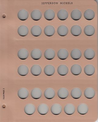 Dansco Album Extra Page For US Jefferson Nickels Coin Collection 35 Holes Slots