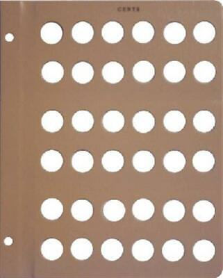 Dansco Album Extra Page For US Cents Penny Collection 36 Holes Blank Page New