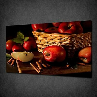 Red Apples Cinnamon Canvas Picture Print Wall Hanging Art Home Decor Free P&p